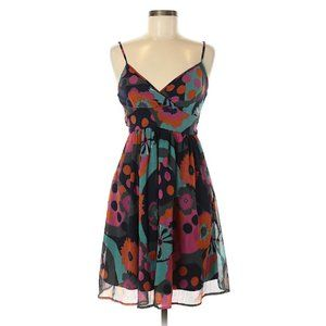 Fire Los Angeles strapless A line flowers dress!